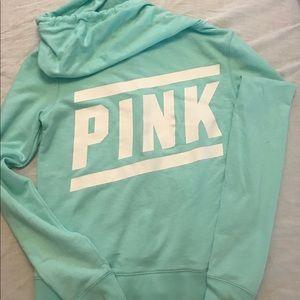 Pink zip-up hoodie